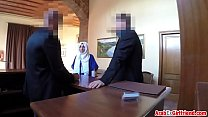 Rough hotel room pounding for hot Arab ex gf image