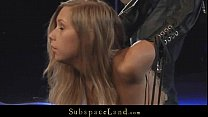Innocent blonde slave spanked and hardfucked in bondage