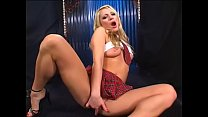 Horny man sked stunning blonde babe  Aurora Snow to caress her pussy in school uniform thumbnail