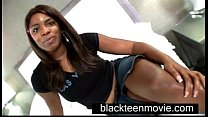 Black Teen amateur makes first porn in Ebony Bi...
