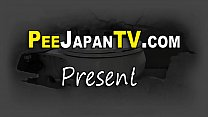 Japanese cuties gush pee and get watched