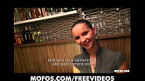 Stunning Czech bartender is paid for a sex sess...