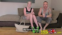 FakeAgentUK Agents cock makes boyfriend jealous in threesome casting