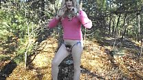 Micropenis sissy slut shoots loads of cum from her itty bitty clitty! Hairy pussy MicroDick! Tiny Baby dick crossdresser!