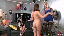 Girlfriends Lez girls lick in new year part 1