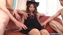5445 Good looking brunette Japanese babe gets gangbanged by horny perverts preview