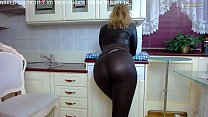 Sexy MILF Shows off and Twerks in Tight Latex Pants