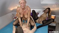 Two Milfs fucked hard with a young Student thumbnail