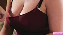 Busty babe toyed by her sister in law