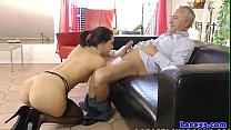 Posh brit mature doggystyled while eating vag