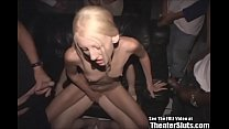 Skinny Blonde Submissive Theater Gang Fuck