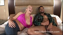 Milf taking black guys dick in her pussy in hot... thumb