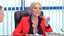 Slut Sexy Girl (Nina Elle) With Big Round Boobs In Sex Act In Office video-21