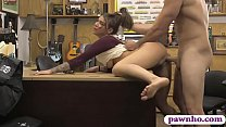 Amateur tattooed brunette woman nailed by pawn ...