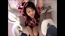 Japanese girl bound in the toilets begs for piss