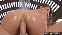 Abellas oiled booty got pounded deep Thumbnail