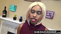 Affair With Attractive Young Hot Ebony Girl Msnovember With Big Boobs While Wife At Work