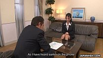 Asian office lady Satomi gives her pussy up - 9Club.Top