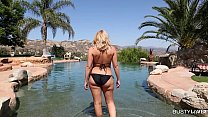 Busty Beauty Brooklyn Chase is Fit to Fuck by the Pool - 9Club.Top