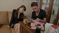 College sexdoll is seduced and fucked scene 2