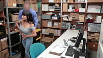TIGHT redhead gets POUNDED by DIRTY guard on his desk thumbnail