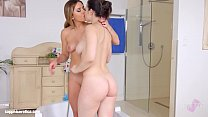 Bathtub bliss lesbian scene with Ally Breelsen ... thumb