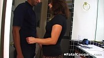 Hot cougar convinces the plumber Preview