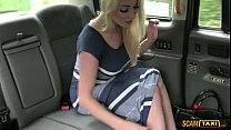 Blondie girlfriend gets fucked anal in the cab by the driver thumbnail