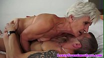 Old granny rides dick and gets doggystyled Thumbnail