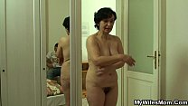 He bangs very old motherinlaw from behind video