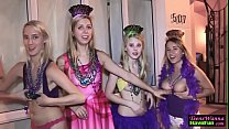 Party teenager banged