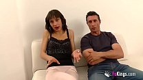 Spanish husband watches powerlessly his teen wife being pounded by another man Image