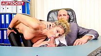 LETSDOEIT - Busty MILF Secretary Izzy Mendosa Tease And Bangs At The Office With Young Passionate Boss