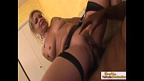 Blonde milf barely takes this black monster cock