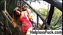 Blonde teen hitch hiker picked up and fucked