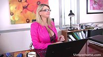 Big Titted Vicky Vette's First EVER Video with ... thumb
