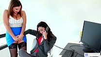 Caught on having sex in the office! - Georgia Jones, Anastasia Knight and Natasha Nice video