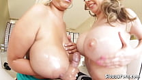 Two amazing busty sluts Kagney Lynn Karter and ... Thumbnail