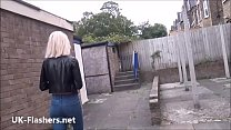 Blonde milf Atlantas public flashing and outdoo...