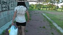 Outdoor fuck with girl in pantyhose thumbnail