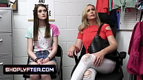 Naughty Step Daughter And Milf Get Accused Of Shoplifting And Need To Be Disciplined By The Security