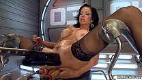 Huge tits Milf dp machine banged