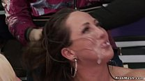 Gagged And Taped Babe Fucked In Public
