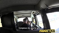 fake taxi brunette sucks fucks and takes it in the ass: pussy nu