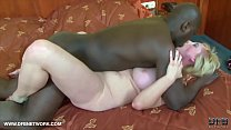 Granny gets ass fucked with dildo and big black...