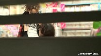 Asian slut in a store gotten fucked and ass spunked thumbnail