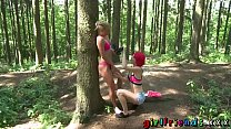 Girlfriends Outdoor lesbian pussy eating thumb