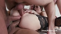 Double Addicted with Kira Thorn & Victoria J Balls Deep Anal