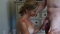 Gorgeous cuckold wife takes facial porn image