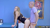 Xanders Corvus thick cock got stuck in Nicole Anistons pussy